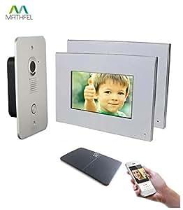 2 draht video t rsprechanlage gegensprechanlage 2x7 39 39 monitor mit wlan schnittstelle. Black Bedroom Furniture Sets. Home Design Ideas