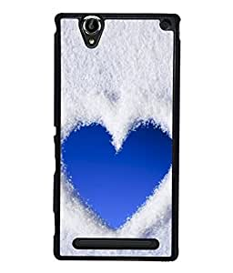 PrintVisa Cloudy Heart High Gloss Designer Back Case Cover for Sony Xperia T2 Ultra :: Sony Xperia T2 Ultra Dual SIM D5322 :: Sony Xperia T2 Ultra XM50h