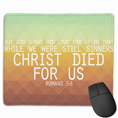 English Words Non-Slip Rubber Mouse Mat Mouse Pad for Desktops, Computer, PC and Laptops 9.8 X 11.8 inch (25x30cm) -