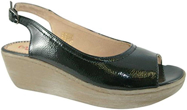 Gentiluomo   Signora Heavenly Feet Capri nero Patent Sandals Queensland Grande vendita Prodotto generale | Forte calore e resistenza all'abrasione  | Sig/Sig Ra Scarpa