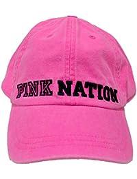 PINK by Victorias Secret, Gorra de béisbol para Mujer, Fucsia Neón Lavado