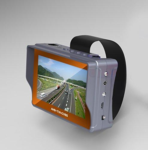 Preisvergleich Produktbild BW tragbar 10,9cm Handgelenk TFT LCD HD Sicherheit CCTV Kamera Monitor Tester mit 12V Ausgang, Analog CVBS Kamera, Analog Video, Kabel-Test, Notfall LED Beleuchtung, Netzteil (CVBS + AHD + TVI)