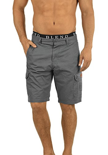Blend Crixus Herren Cargo Shorts Bermuda Kurze Hose Aus 100% Baumwolle Regular Fit, Größe:3XL, Farbe:Granite (70147)