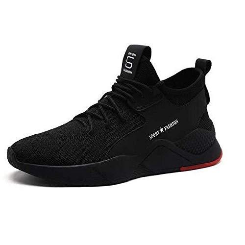 KAVON Men's Black Light Weight Mesh Lace up Walking/Sport's/Running/Gym/Jogging Unisex Shoe 9 UK