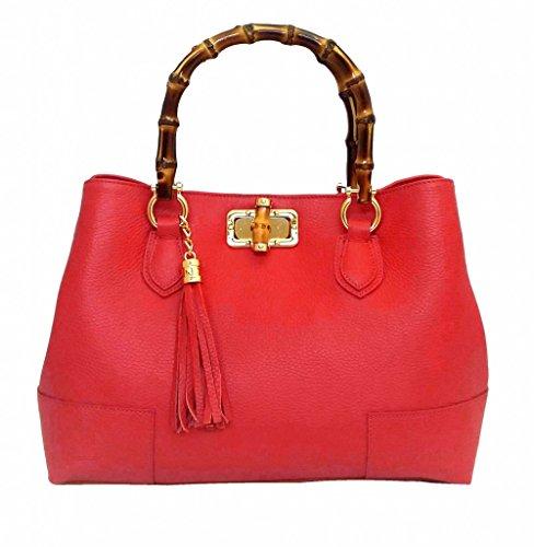 8f174b8a51 LUXURY LEATHER BAG Borsa DEEP ROSE in Vera Pelle Donna usato Spedito  ovunque in Italia