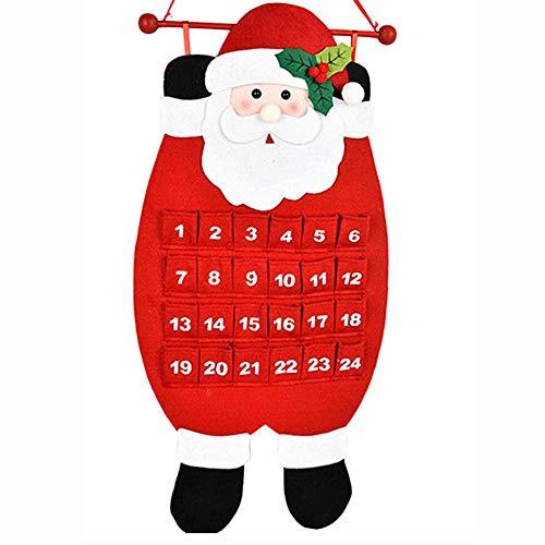 Kostüm Kalender Mann - sunnymi Weihnachten alt haariger Mann Kalender Adventskalender Countdown Kalender Wandkalender Stoff Weihnachten Adventskalender 68cm / 26.8 inch B