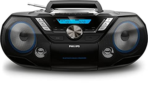 Philips AZB798T CD-Soundmaschine mit Bluetooth (CD, MP3-CD, USB, DAB+, UKW)
