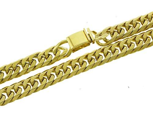 Bling Bling NY Solide 14 K Gelb Gold Finish Edelstahl 18,5 mm dick Miami  Cuban Link Kette 61 cm lang