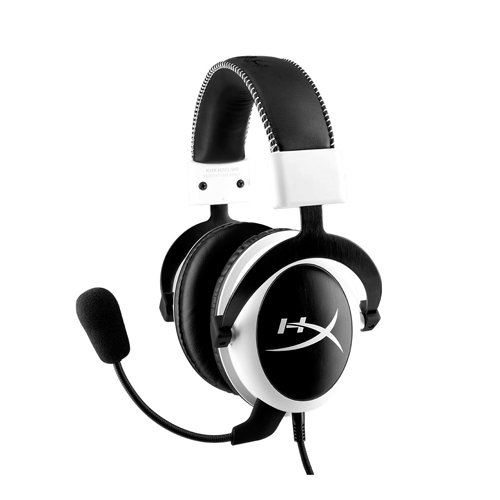 HyperX KHX-H3CLW Cloud Cuffie Gaming, PC/PS4/Mac/Mobile, Nero/Bianco