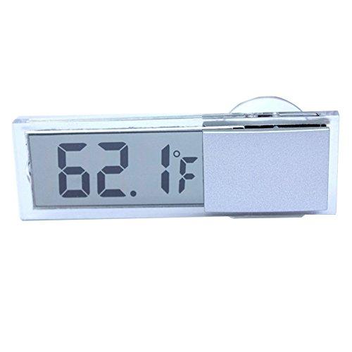 Termometro de coches - SODIAL(R)Tipo de ventosa LCD Termometro digital montado en vehiculos Celsius Fahrenheit