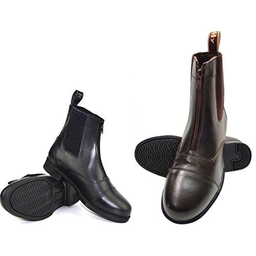 Hy Canterbury-Pantaloni corti, con cerniera, in pelle, misure per bambini nero - nero
