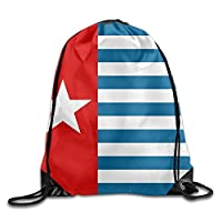 GDESFR Drawstring Backpack West Papua National Flag Personalized Gym Drawstring Bags Travel Backpack Tote School Rucksack