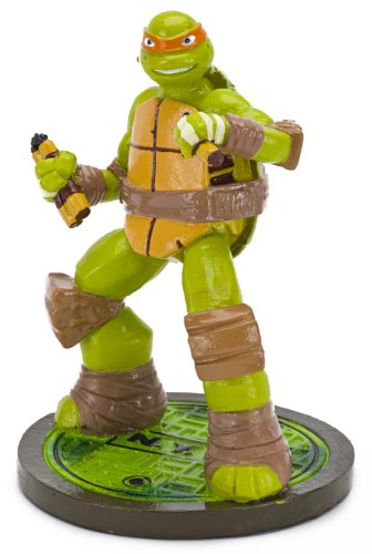 Penn-plax Teenage Mutant Ninja Turtles Michelangelo Aquarium Ornament, Mini