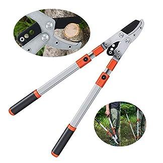Tijera de podar telescópica profesional, menos esfuerzo corte fácil, aluminio ligero, extensible de 68 a 101 cm, para ramas de árboles y para podar setos, herramienta de jardinería de calidad