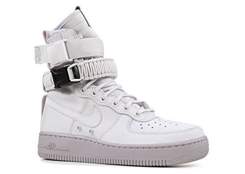 Nike Unisex Schuhe Wmns SF Air Force 1 Leder und Grauer Stoff 857872-003