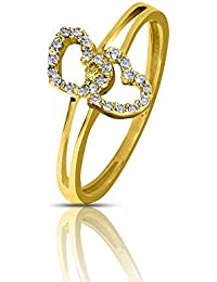 Sparkles Gold and Diamond Heart Ring