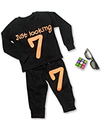 Finger's Toddler Baby Boy Girls Sweatshirt Top+Pants Outfits Tracksuits Sport Suit
