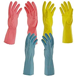 Primeway Flocklined Hand Gloves (Multicolour, Pack of 3)