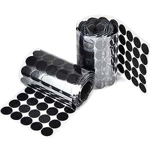 atpwonz 250 paar klettverschluss klettpunkte selbstklebend 20 mm rund geeignet f r papier. Black Bedroom Furniture Sets. Home Design Ideas