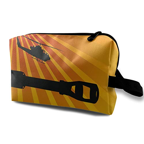 Toiletry Bag for Women Army Offensive Multifuncition with Zipper