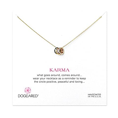 Dogeared - Collier Karma - Plaqué or - Femme -