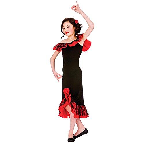 Spanische Senorita - Mädchen Kostüm (XL- 11/13 (Senorita Kostüm Spanische)