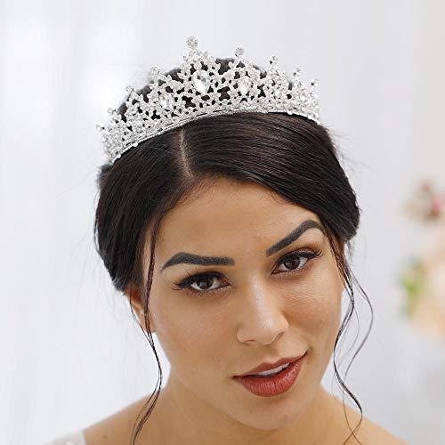 Jovono, für Hochzeit, Krone, Tiara mit Kristall, für Damen (Kunststoff-kronen Masse Der In)