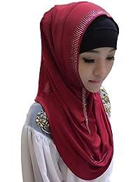 zhbotaolang Musulmán Islámico Arabe Mujer Hijabs - Pañuelo en la Cabeza Envolturas Velos Partido Boda Ramadan