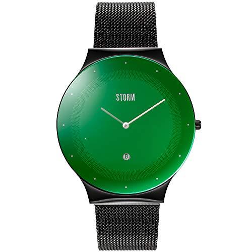 Storm Terelo Slate Green 47391/SL/GN - Orologio unisex, piatto, diametro 42 mm