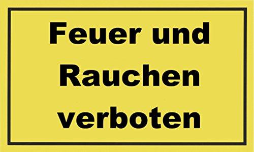 """Metafranc Hinweisschild \""""Feuer und Rauchen verboten\"""" - 300 x 200 mm / Beschilderung / Infoschild / Verbotsschild / Warnschild / Warnmarkierung / Sicherheitsmarkierung / Gefahrenhinweis / 500260"""