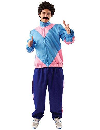 Adult Mens 80s Shell Suit Scouser Tracksuit Fancy Dress Costume Standard