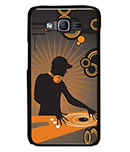 PrintVisa Designer Back Case Cover for Samsung Galaxy On7 Pro :: Samsung Galaxy On 7 Pro (2015) (Image Abstract Texture Man Earphones Play)