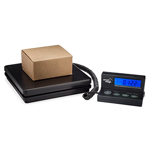 Smart Weigh ACE150 Digitalwaage, zum Wiegen der Post, mit ausziehbarem Kabel, Display mit Hintergrundbeleuchtung in Blau, Batterien und USB-Kabel im Lieferumfang enthalten