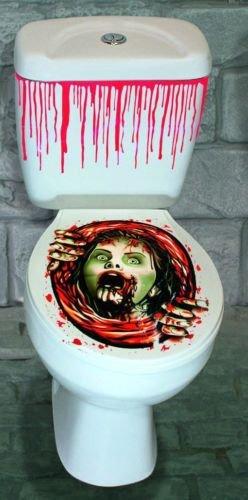 Miedo de Halloween HORROR ZOMBIE de inodoro Decoración del cráneo de fiesta de Halloween, plástico, Female Zombie