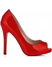 Amazon esVestidos Para Zapatos Sexy Rojo Mujer Nw0vm8nO