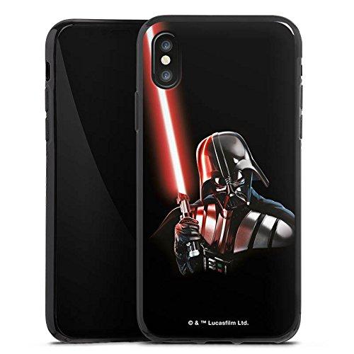 Apple iPhone 8 Silikon Hülle Case Schutzhülle Star Wars Fanartikel Merchandise Darth Vader Silikon Case schwarz