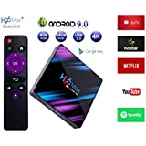 Systene H96 MAX Android TV Box H2 Colorful Edition 2GB/16GB Android 9.0 RK3318 17.3 4K TV Box 2.4G/5G WiFi LAN Bluetooth USB3.0 HDMI