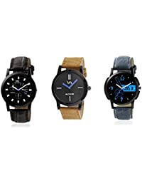 WM Stylish Watches For Boys And Men Combo Gift Set With Sunglasses WMC-002-BR-003-004aeons