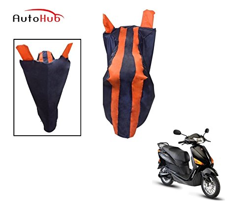Auto Hub Premium Two Wheeler Cover For Hero Electric Optima - Black-Orange  available at amazon for Rs.275