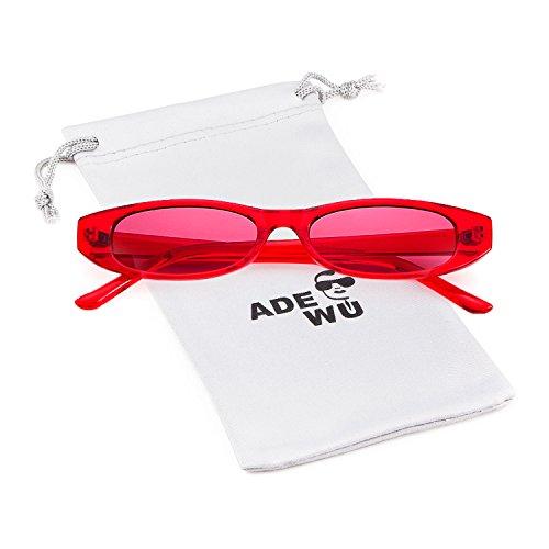 ADEWU Kleine Ovale Sonnenbrille Unisex Clout Goggles Männer Frauen