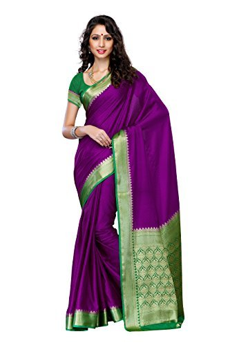 Mimosa Women'S Creap Silk Saree With Blouse,Color:Mejantha(3200-2077-MEJ-GRN)  available at amazon for Rs.1499