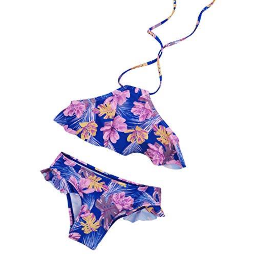Storerine Baby Mädchen Bikini Badeanzug Split Bikini Set Floral Riemen Tops Hosen Print Bademode Set 2 ()