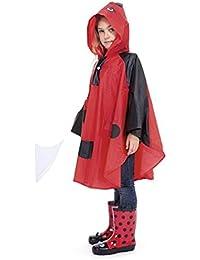 Children's PVC Ladybird Poncho / Raincoat One Size Age 4-8