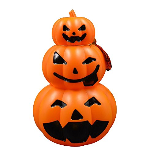 Alxcio Halloween Kürbis Licht LED Lampe Dekoration Sprach-Sensor Angetrieben Durch Batterie mit Scary Ghost-Sounds für Indoor - Für Halloween Einen Kürbis-gesicht Schnitzen