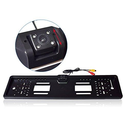 Prom-near 4 LED Licht Rückfahrkamera Nummernschildhalter Europäische Kennzeichen Waterproof Reverse Backup Rear View Camera Nachtsicht/rückfahrkamera nummernschild -