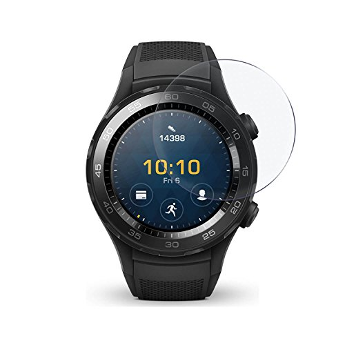 LetiStore 3 x Smartwatch Panzerglas Folie für Huawei Watch 2 Sport Hartglas Bildschirmschutz 9H Klar