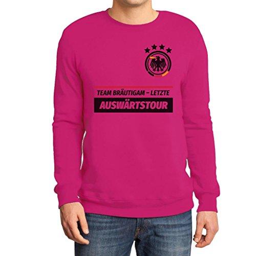 JGA Junggesellenabschied Team Bräutigam Letzte Auswärtstour Sweatshirt X-Large Rosa (Gruppe Team Kostüm Ideen)