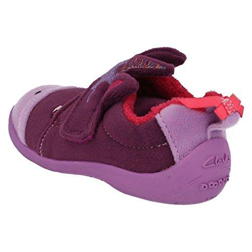 Clarks fille magique en forme de chaussons de veille Violet Violet