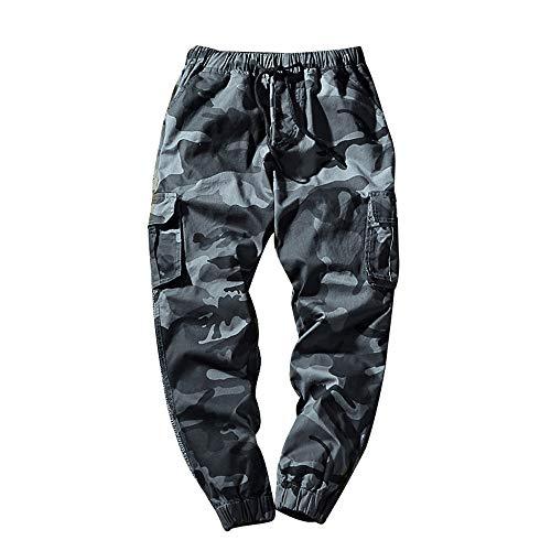 KPILP Hose Herren Dicke Haremshosen Mode Übergröße Tägliche Jeans Tarnung Neun Punkte Kleine Füße Lose Beiläufige Sportwear Chino(A-blau, 7XL - Mercer Fit Chino