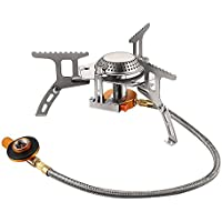 Terra Hiker Portable Camping Gas Stove with Convenient Piezo Ignition, 3500W Small Durable Backpacking Cooker with Carrying Case